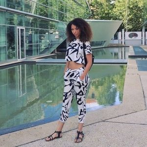 Ink Print Two Piece Set